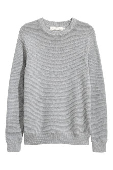 Rib-knit cotton jumper