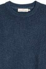 Rib-knit cotton jumper - Dark blue - Men | H&M 3