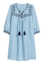 Lyocell denim tunic - Light blue -  | H&M 2