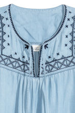 Lyocell denim tunic - Light blue -  | H&M 3