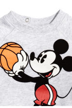 Printed sweatshirt - Light grey/Mickey Mouse - Kids | H&M 2