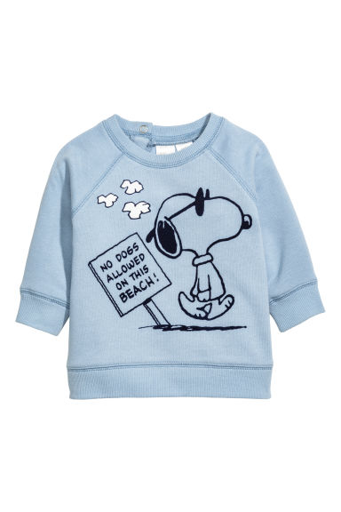 圖案運動衫 - Light blue/Snoopy - Kids | H&M 1