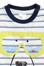 Cotton T-shirt - White/Blue striped - Kids | H&M 2