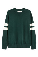 Fine-knit jumper - Dark green - Men | H&M 2