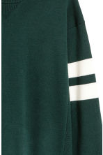 Fine-knit jumper - Dark green - Men | H&M 3