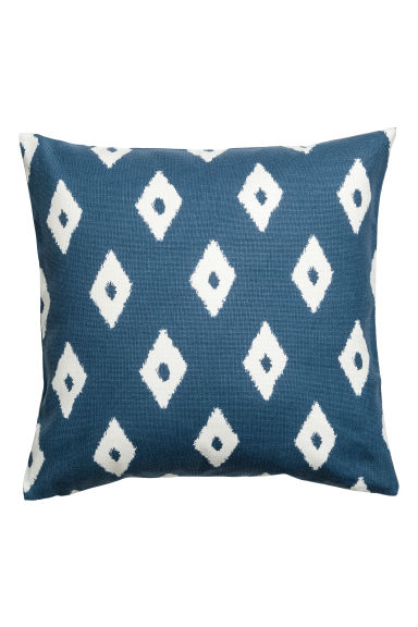 Patterned cushion cover - Blue/White - Home All | H&M CN 1