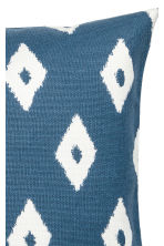 Patterned cushion cover - Blue/White - Home All | H&M CN 2