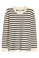 Natural white/Black striped