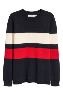 Fine-knit cotton-blend jumper