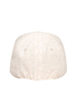Jersey cap with a motif - Light beige marl - Kids | H&M CN 2
