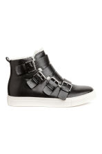 Pile-lined hi-tops - Black -  | H&M 1