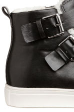 Pile-lined hi-tops - Black -  | H&M 4