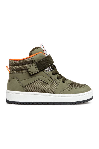 高筒運動鞋 - Khaki green - Kids | H&M 1