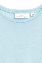 Lyocell top - Light blue marl - Ladies | H&M CN 3