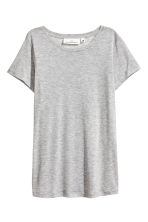 Lyocell top - Grey marl - Ladies | H&M 2