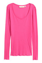 Long-sleeved jersey top - Cerise - Ladies | H&M 1