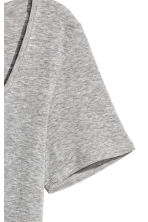Short-sleeved jersey top - Grey marl - Ladies | H&M 3