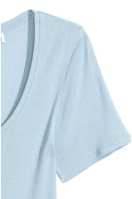 Top a maniche corte in jersey - Azzurro - DONNA | H&M IT 2
