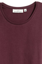 Long-sleeved jersey top - Burgundy - Ladies | H&M 3