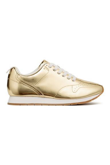 Glanzende sneakers - Goudkleurig -  | H&M BE 1