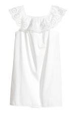 Off-the-shoulder dress - White -  | H&M CN 2