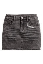Twill skirt - Black washed out - Kids | H&M CN 2