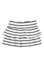 Jersey skirt - White/Black striped - Kids | H&M 2