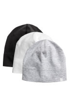 3-pack jersey hats - Black - Kids | H&M 1