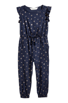 Jumpsuit with frilled sleeves