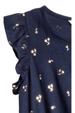 Jumpsuit with Ruffled Sleeves - Dark blue/cherry -  | H&M CA 3