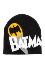 Fine-knit hat - Black/Batman - Kids | H&M CN 1