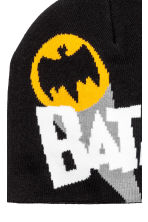 Fine-knit hat - Black/Batman - Kids | H&M CN 2