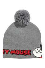 Fine-knit hat - Grey/Mickey Mouse -  | H&M CN 2