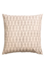 Patterned cushion cover - Natural white - Home All | H&M CA 1