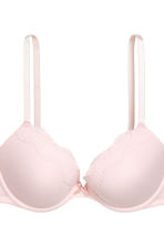2-pack microfibre push-up bras - Dark grey/Light pink - Ladies | H&M CN 3