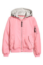 Hooded bomber jacket - Pink - Kids | H&M IE 2