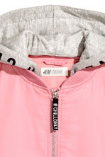 Hooded bomber jacket - Pink - Kids | H&M IE 4