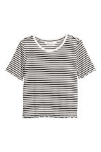 Wide jersey top - Black/White/Striped - Kids | H&M 2