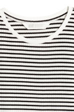 Wide jersey top - Black/White/Striped - Kids | H&M 3