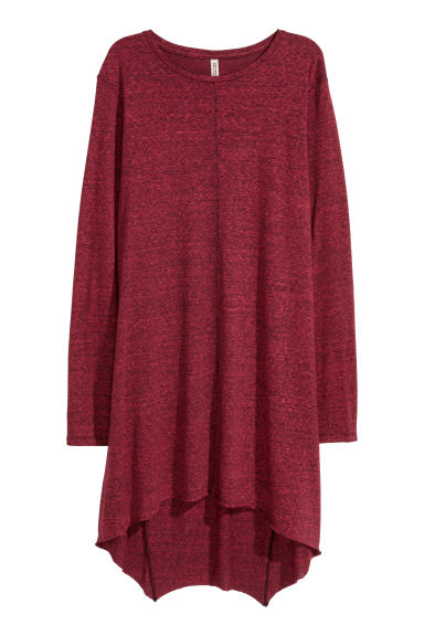 Long jersey top - Red marl - Ladies | H&M