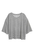 T-shirt ampia in jersey - Bianco/righe - DONNA | H&M IT 2