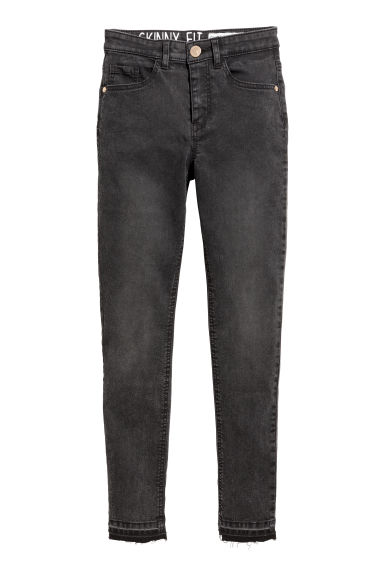 Pantalon super extensible - Noir washed out - ENFANT | H&M FR