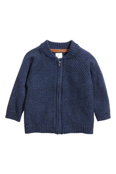 Knitted cardigan - Dark blue -  | H&M 1
