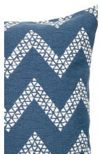 Jacquard-weave cushion cover - Navy blue/White - Home All | H&M CN 3