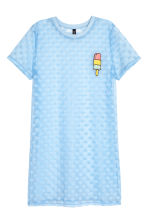Mesh T-shirt dress - Light blue - Ladies | H&M 2