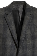 Wool-blend jacket Slim fit - Grey/Black checked - Men | H&M CN 3