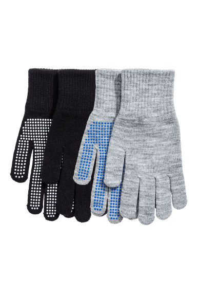 2-pack gloves - Black/Grey -  | H&M