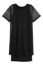 Mesh T-shirt dress - Black - Ladies | H&M 2