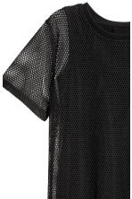 Mesh T-shirt dress - Black - Ladies | H&M 3