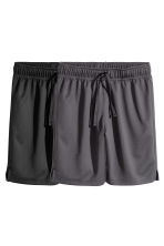 2-pack sports shorts - Black/Dark grey -  | H&M 2